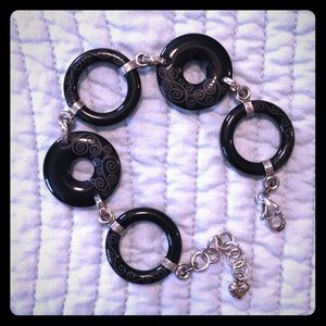 Brighton Black Scrolled Bracelet